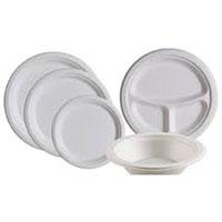 Хартиени чинии (еко чинии) 17см, 24см, 30см;  купа за супа 450мл
