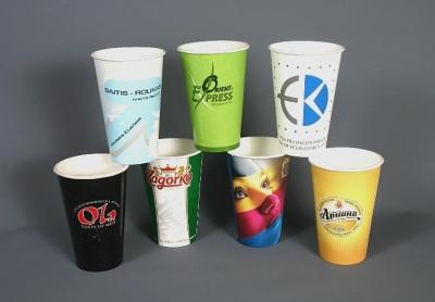 Картонени чаши за студени напитки 16oz/450ml