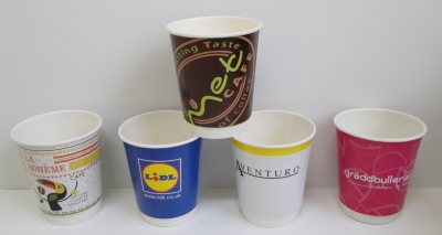 Double-walled paper cups 8oz/240ml