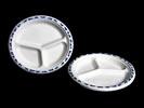 Хартиени чинии (еко чинии) 17см, 24см, 30см; <br/> купа за супа 450мл 26см Картонени чинии с 3 отделения