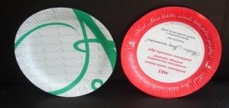 Paper plates 17/24/30 cm; Soup bowl 450ml 23cm Custom printed paper & 23cm Custom printed paper plates